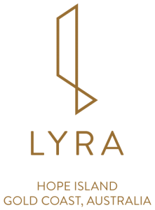 Lyra Hi Logo Stacked Gold